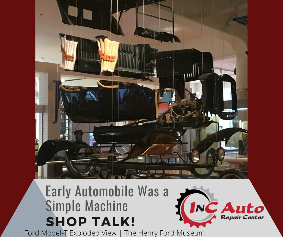 Exploded display of a Ford Model-T Early Automobile Was a Simple Machine Shop Talk!