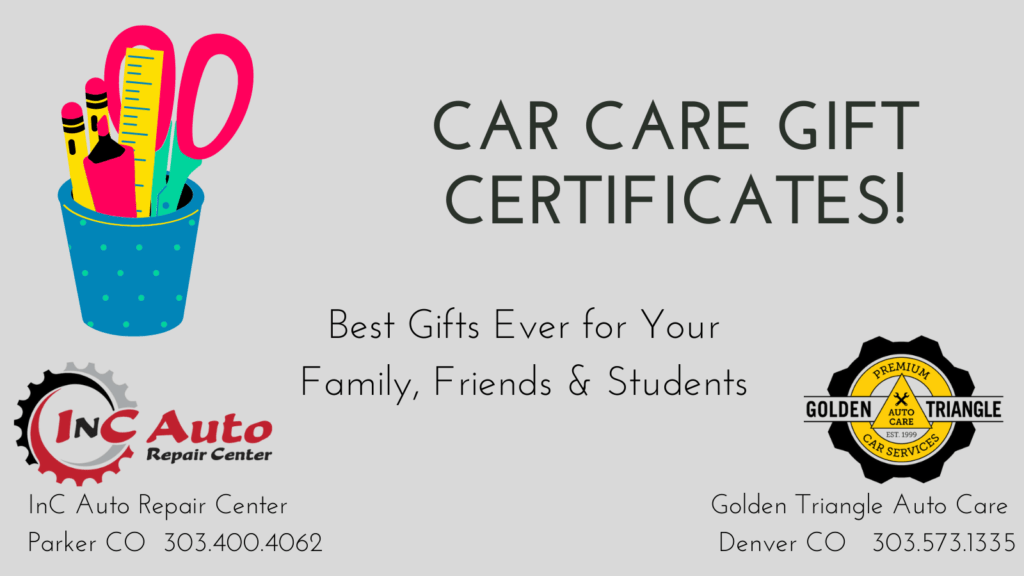 Car Care Gift Certificates from Parker Colorado Auto Shop
